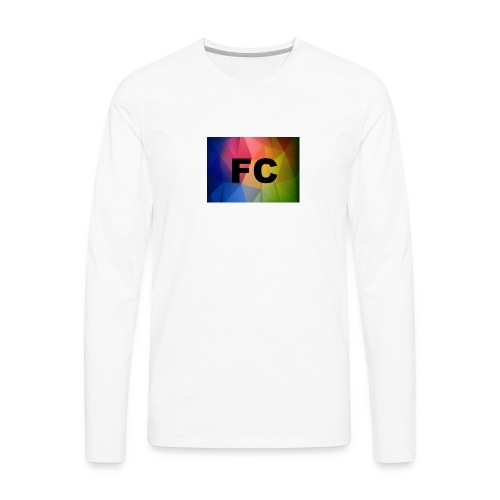 Abstract Colorful Geometric Shapes Background Vect - Men's Premium Long Sleeve T-Shirt
