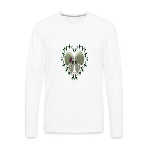 LOVE SKULLS DAISIES - Men's Premium Long Sleeve T-Shirt