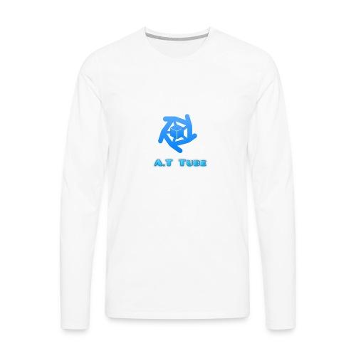 A.T Tube (White) - Men's Premium Long Sleeve T-Shirt