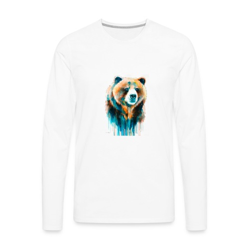 grizzly bear - Men's Premium Long Sleeve T-Shirt