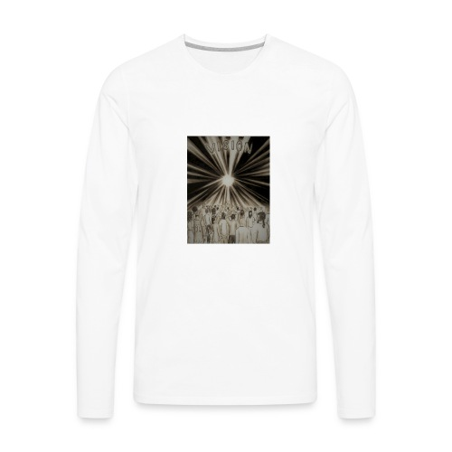 Black_and_White_Vision2 - Men's Premium Long Sleeve T-Shirt