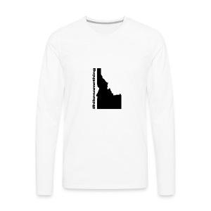 Hike Something Idaho - Men's Premium Long Sleeve T-Shirt