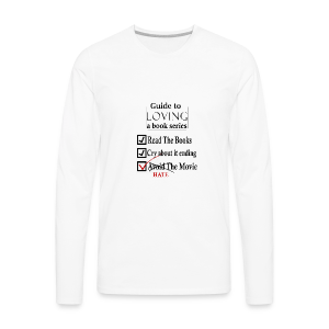 Guide To Loving A Book Series (Black) - Men's Premium Long Sleeve T-Shirt