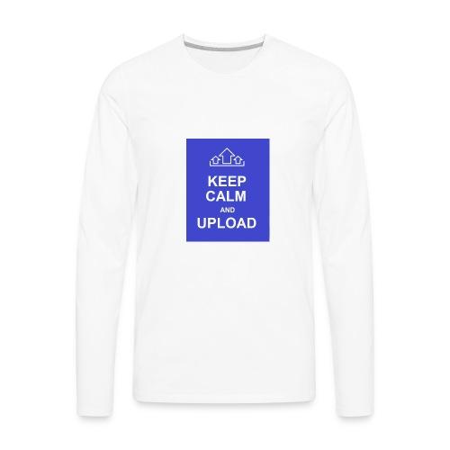 RockoWear Keep Calm - Men's Premium Long Sleeve T-Shirt