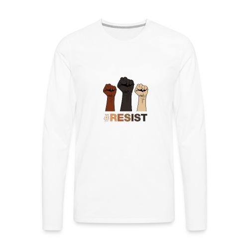Resist / Racial Justice - Men's Premium Long Sleeve T-Shirt