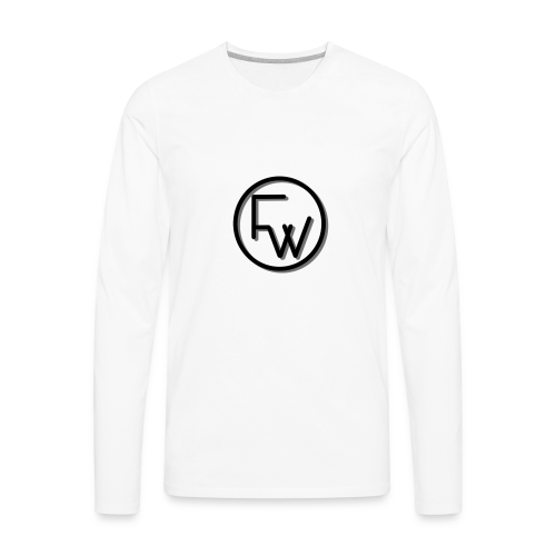 A Funny Wilson Production Black Logo - Men's Premium Long Sleeve T-Shirt