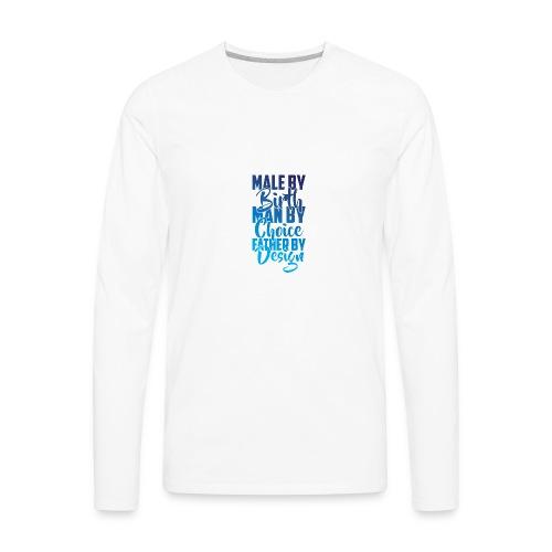 MALE BY BIRTH - MULTI BLUE - Men's Premium Long Sleeve T-Shirt