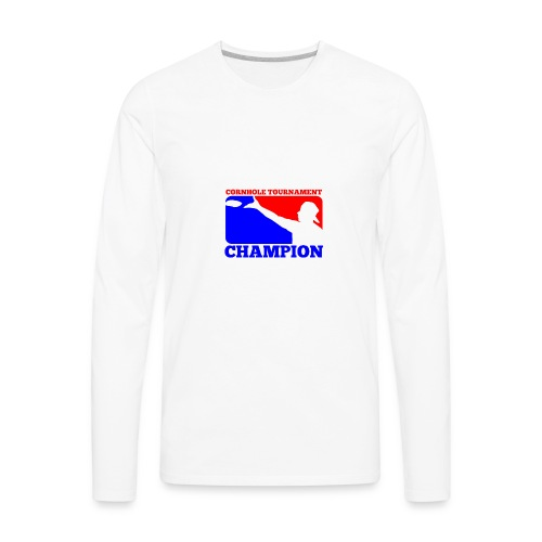 Cornhole Tournament Champion - Men's Premium Long Sleeve T-Shirt