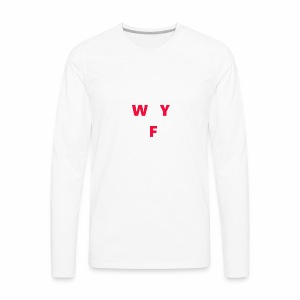 WAY OFF logo - Men's Premium Long Sleeve T-Shirt