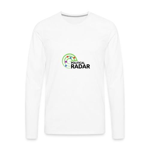 Political Radar Logo - Black - Men's Premium Long Sleeve T-Shirt