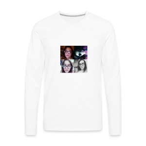 The Awesomeness Selfie Collage - Men's Premium Long Sleeve T-Shirt