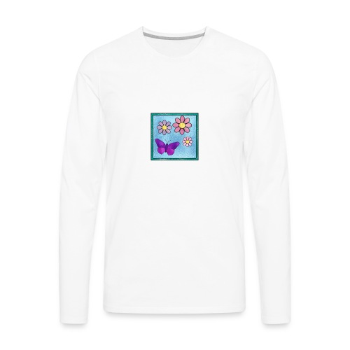 Stained Butterfly 1 - Men's Premium Long Sleeve T-Shirt