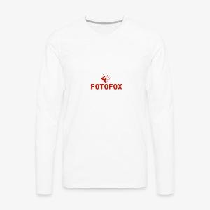 FotoFox logo - Men's Premium Long Sleeve T-Shirt