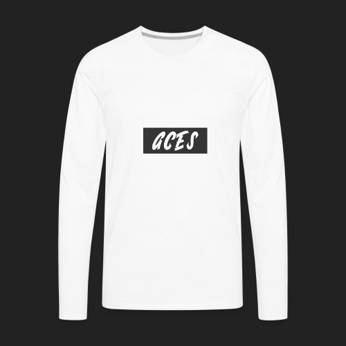 Aces Box Logo - Men's Premium Long Sleeve T-Shirt