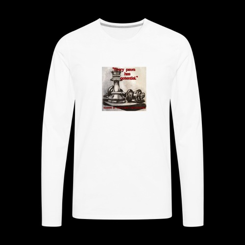 Raised In Game Pawn - Men's Premium Long Sleeve T-Shirt