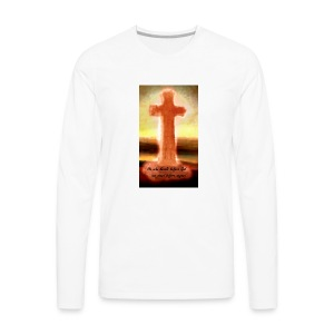 He who kneels before God can stand before anyone - Men's Premium Long Sleeve T-Shirt