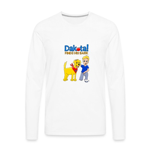 Dakota! Finds His Bark - Men's Premium Long Sleeve T-Shirt