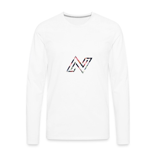 N logo Floral - Men's Premium Long Sleeve T-Shirt