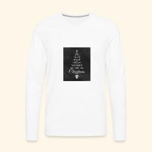 36de4af5f6fc233fcbe6ac1f16d23071 christmas chalkb - Men's Premium Long Sleeve T-Shirt