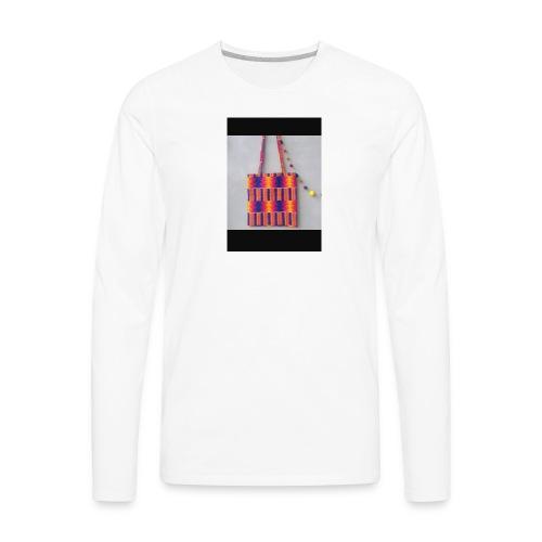 ANKARA TOTE BAG DESIGN - Men's Premium Long Sleeve T-Shirt