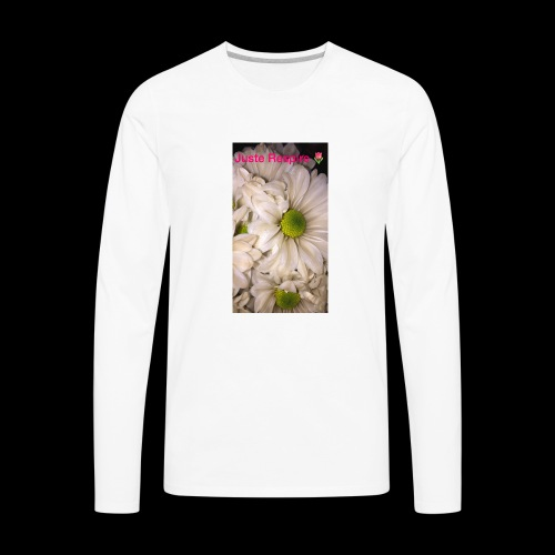 """Just Breathe "" in French - Men's Premium Long Sleeve T-Shirt"
