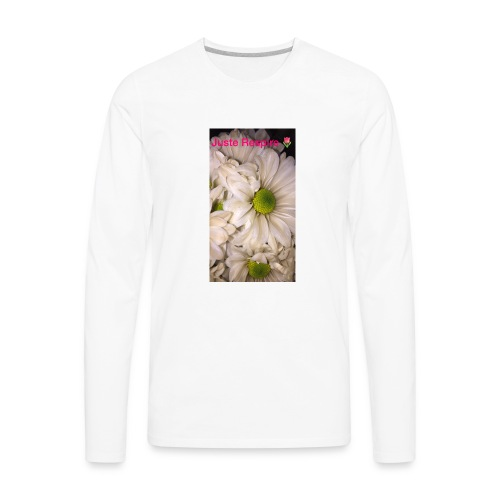 """""""Just Breathe """" in French - Men's Premium Long Sleeve T-Shirt"""