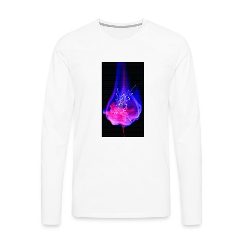 Burning rose - Men's Premium Long Sleeve T-Shirt