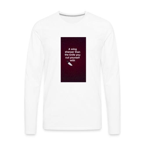 Bagelboos - sharp wing basic tee - Men's Premium Long Sleeve T-Shirt