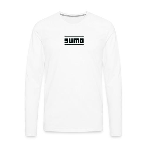 Sumo Text (Black) - Men's Premium Long Sleeve T-Shirt