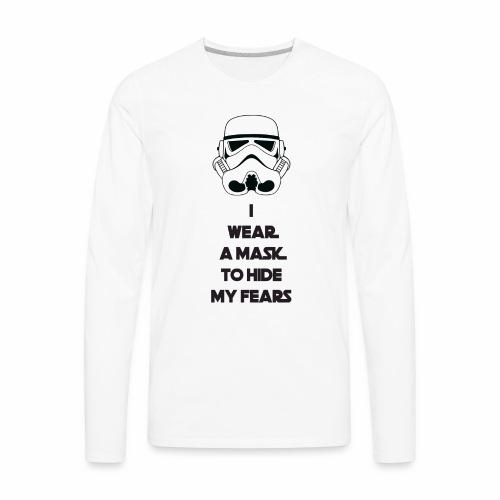 Storm Troopers Mask - Black Text - Men's Premium Long Sleeve T-Shirt