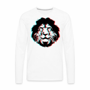 3D Lion Face - Men's Premium Long Sleeve T-Shirt