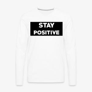 Stay Positive (Black Box) - Men's Premium Long Sleeve T-Shirt