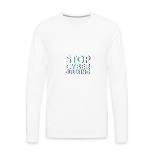 cyber bullying prevention - Men's Premium Long Sleeve T-Shirt