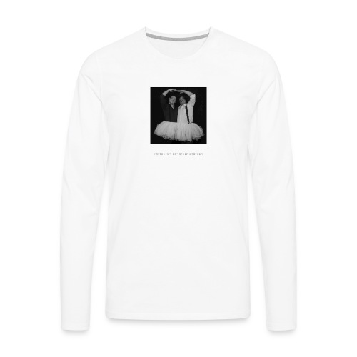 I'm the other other black and white - Men's Premium Long Sleeve T-Shirt