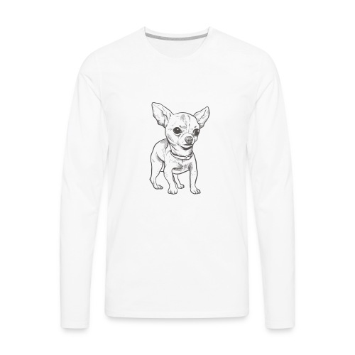 White Bruno logo. - Men's Premium Long Sleeve T-Shirt