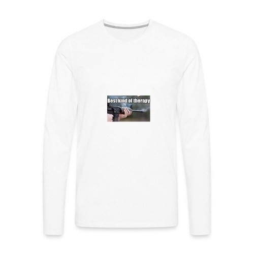 Best kind of therapy - Men's Premium Long Sleeve T-Shirt