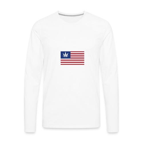american-weed - Men's Premium Long Sleeve T-Shirt