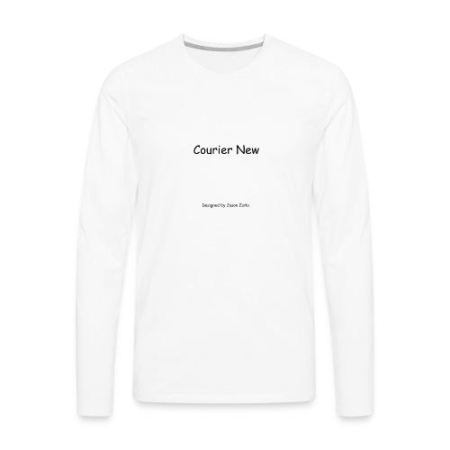 Font Irony - Men's Premium Long Sleeve T-Shirt
