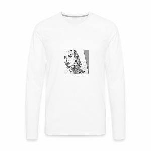 beauty cute drawing flowers Favim com 2864595 - Men's Premium Long Sleeve T-Shirt