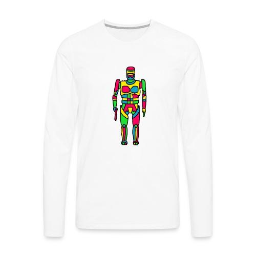 Cartoon Robocop in Color - Men's Premium Long Sleeve T-Shirt