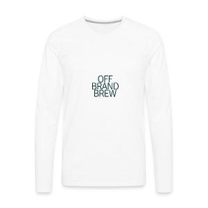 OFF BRAND BREW BLACK STACK LOGO - Men's Premium Long Sleeve T-Shirt