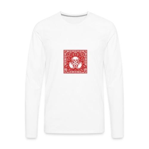 lucky skull bandanna design - Men's Premium Long Sleeve T-Shirt