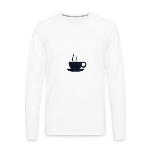 Tea Cup Design - Men's Premium Long Sleeve T-Shirt