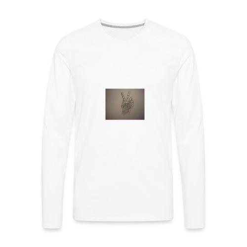 my left hand - Men's Premium Long Sleeve T-Shirt