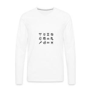4Dee Zodiac Signs - Men's Premium Long Sleeve T-Shirt