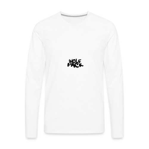 WolfPack Paw Logo - Men's Premium Long Sleeve T-Shirt