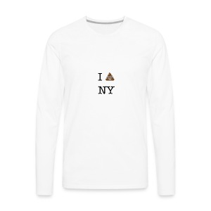 I poop NY - Men's Premium Long Sleeve T-Shirt