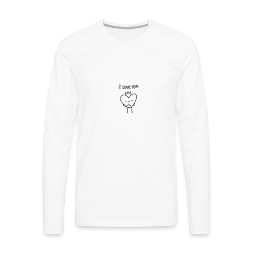 i-love-you shirts an objects - Men's Premium Long Sleeve T-Shirt