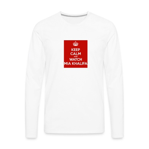 keep-calm-and-watch-mia-khalifa - Men's Premium Long Sleeve T-Shirt