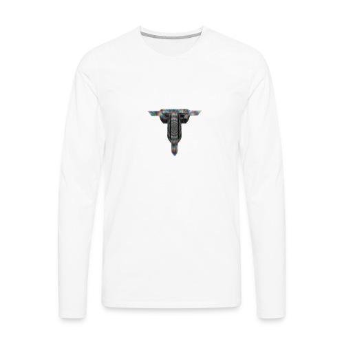 Thrust Logo 3d - Men's Premium Long Sleeve T-Shirt